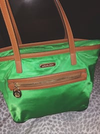 green and brown leather tote bag New York, 10452