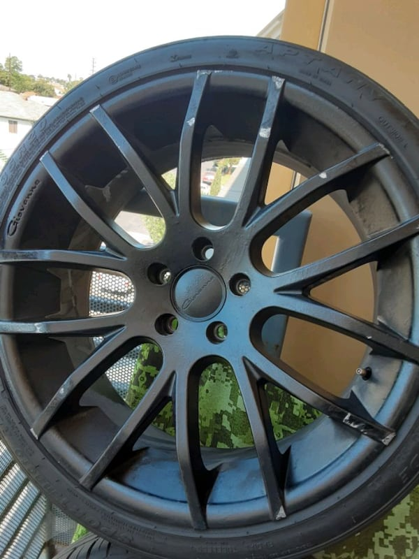 Rims Giovanna 20inch. With tires 7