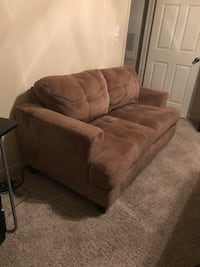 brown suede 2-seat sofa Coppell, 75019