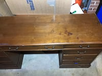 "Light Brown Executive Desk 66""x20""x30"" 8 Drawers- HEAVY! Silver Spring, 20906"