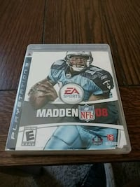 Madden NFL 08 PS3 game case