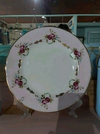 white and pink floral ceramic plate Clearwater, 33764
