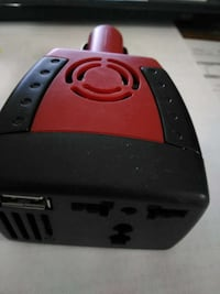 black and red power strip