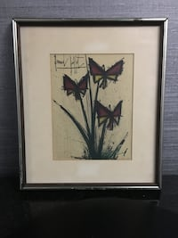 "Bernard Buffet (1928 - 1999) French ""La Pensee's (Pansy Flowers) Color lithograph 220 mi"