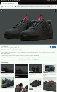 Nike Air forces 1 grey and red Toronto, M3J 2J7