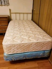 Twin Mattress with box spring and metal frame Edmonton, T6X 0W4
