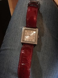 square silver analog watch with brown leather strap New Westminster, V3L 4G6