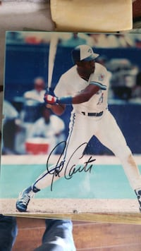 Joe Carter 1992 Blue Jays autographed 8x10 Burlington, L7M 4P3