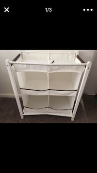 White wooden diaper changing table Bakersfield, 93304