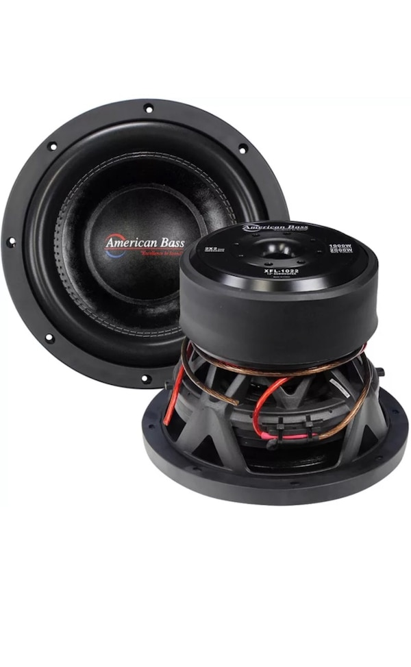"""2 10"""" american bass subwoofers, ported box, american bass 1200w amp bundle  $550 obo"""
