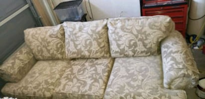 Couch and 2 high back chairs set
