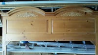 brown wooden bed headboard and footboard FAIRBORN