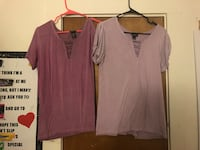 two beige and maroon keyhole neckline t-shirts Atwater, 95301