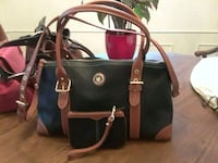 black and brown leather 2-way bag St. Louis, 63109