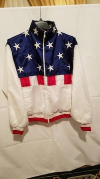 Red White & Blue puffy windbreaker Phoenix