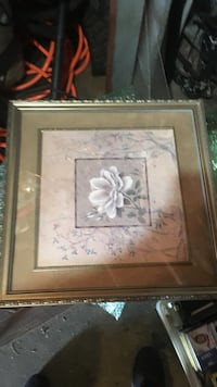 brown wooden framed painting of white flowers Daly City, 94015