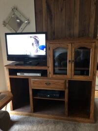 Solid Oak Entertainment Center WASHINGTON