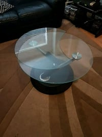 round clear glass top coffee table Markham, L6B 0A3