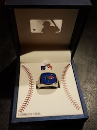 Men's Stainless Steel Toronto Blue Jays Ring North Bergen, 07047