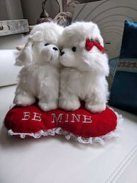 Valentine's stuffed puppy set for sale