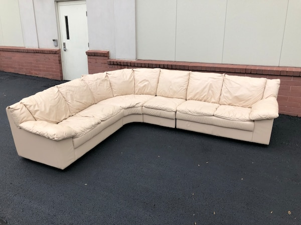 Fine 4 Piece Leather Sectional Sofa Great Condition Ibusinesslaw Wood Chair Design Ideas Ibusinesslaworg