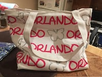white and red Orlando tote bag Mississauga