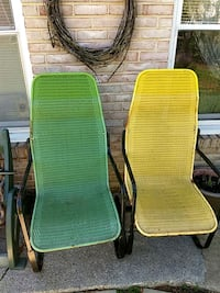 two green and brown metal armchairs Newville, 17241