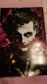 Joker poster Heath Ledger Montréal, H2R 2E2