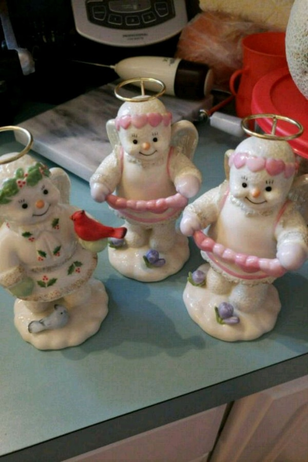 NEW LENOX SNOW ANGELS 5 INCHES HIGH REAL GOLDHALO