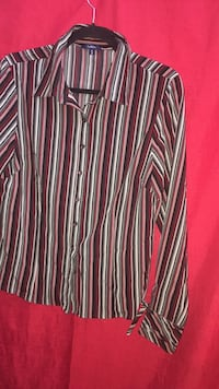 Reitmans Stripped Button up Blouse