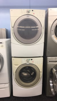 white front-load washer and dryer set Toronto, M3J 3K7