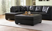 Brand New Leather Sectional Sofa with Left-Side Chaise CHICAGO