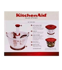 Kitchen Aid salad spinner Flint