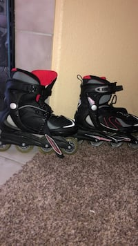pair of black-and-pink inline skates North Las Vegas, 89031