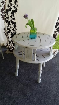 white and green wooden table Nederland, 77627