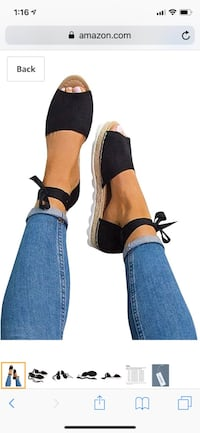 Womens Ankle Buckle Straps Espadrilles Cut out Los Angeles, 91342