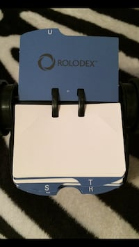 Black Rolodex (Open Rotary Card File), Holds 250 Cards