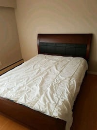 white mattress and brown wooden bed frame Burnaby, V5G 1Z9