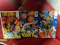 three assorted Marvel X-Men comic books
