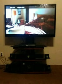 """50"""" Zenithflat screen TV and black wooden TV stand Shannon, 28386"""
