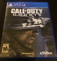 Call Of Duty Ghosts For PS4 Burlington, L7R 1J8