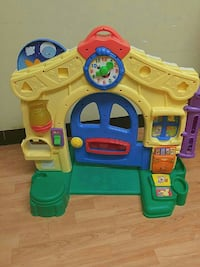 yellow and blue learning house playset