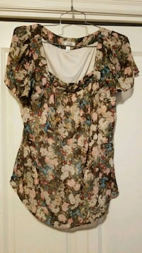 Dress Barn floral print blouse, size 1X  Beaverton, 97005