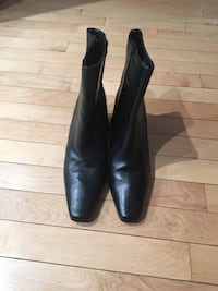 Moda Black Leather Boots in Size 8 BAYSIDE