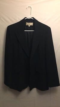 womens black dress jacket size 12- missing button in front  Farmingville, 11738