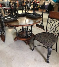 brown wooden table with chairs Dickson, 73401