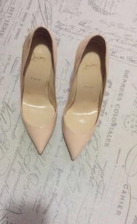 Nude patent leather Christian Louboutins Garfield