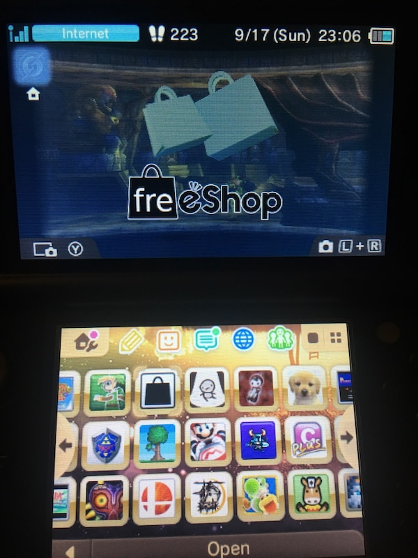 3DS Hacks (B9S CFW + Luma3DS + Freeshop)