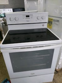 white and black induction range oven Chester, 19013