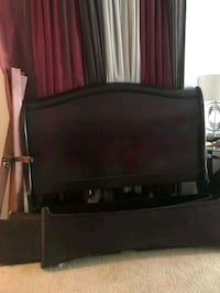 black wooden headboard and footboard 26 km